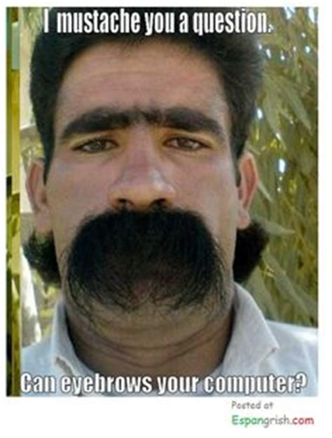Guy With Mustache Meme - i mustache you a question can eyebrows your computer funny