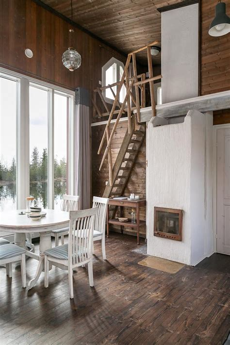warm and comfortable swedish wooden house interior decordemon perfect scandinavian wooden house by the lake