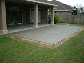 Cement Backyard Ideas Concrete Patio Pictures And Ideas