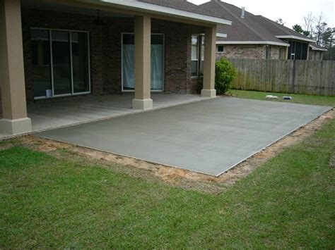 concrete patio ideas backyard triyae cement backyard design various design