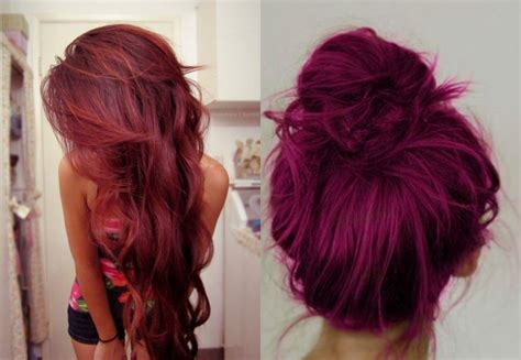hair color plum raspberry crush hair cut and