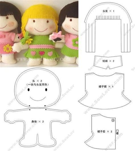 cute doll pattern love to do this with scraps from baby felt doll pattern for the love of felt pinterest