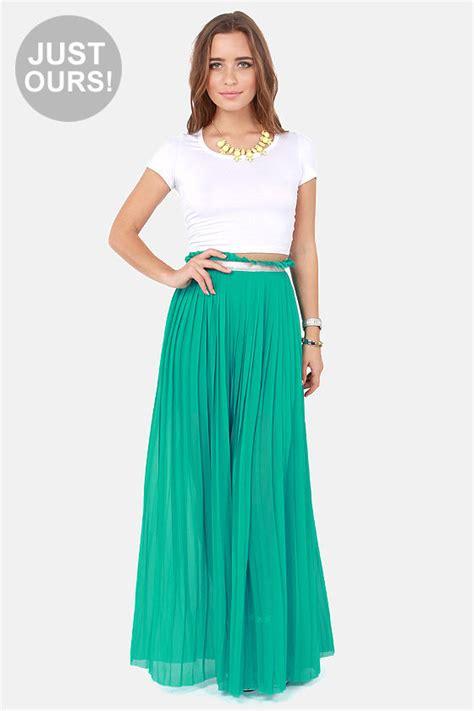 stylish teal skirt maxi skirt pleated skirt 49 00