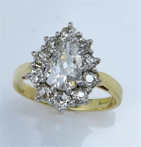 vintage pear engagement rings wedding and bridal inspiration
