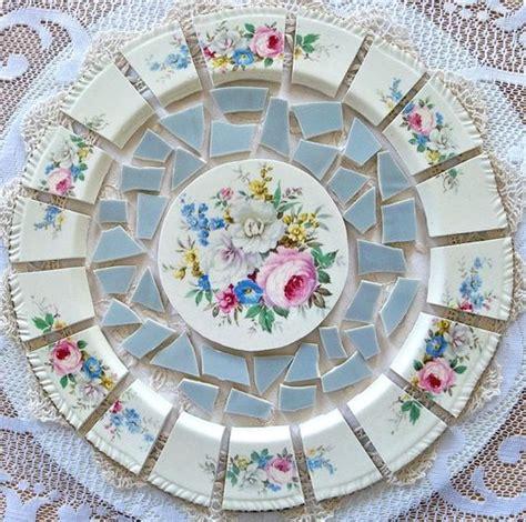 mosaic tiles arrangement shabby chic cut from antique
