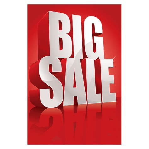 Big Sale Poster Design Discountdisplays Sale Posters Sales Letter Design Pinterest Sale Sale Poster Template