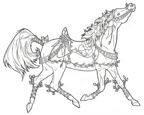 coloring pictures of carousel horses horse coloring pages carousel horses and carousels on