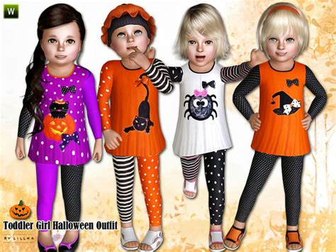 sims 4 halloween costumes lillka s toddler girl halloween outfit