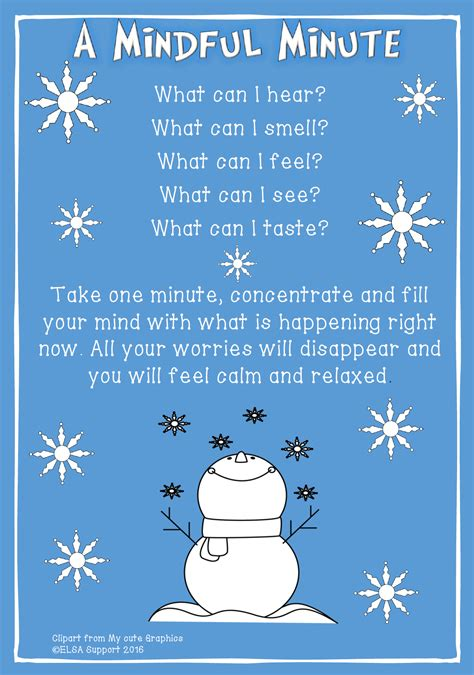 One Minute Mindfulness Mindful Minute Therapy Print It Mindful