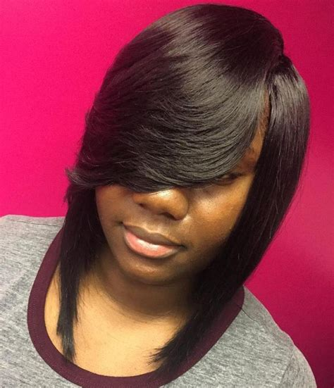 Sew In Hairstyles With Bangs by Best 20 Layered Side Bangs Ideas On