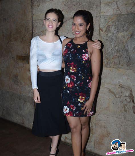 richa chadda and kalki movie tamanchey screening at lightbox kalki koechlin and
