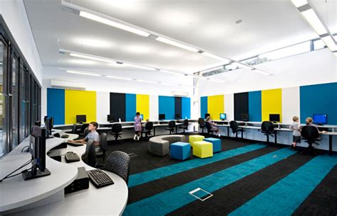 Colorful Computer Chairs Design Ideas Colorful Elementary Computer Lab Interior Design Ideas