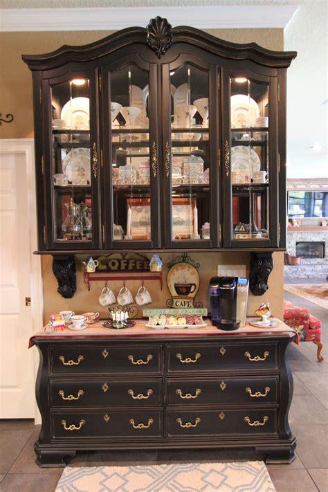 repurpose old china cabinet repurposed china hutch coffee bars pinterest
