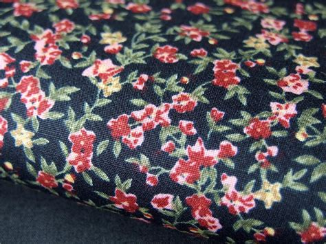 Floral Patchwork Fabric - black vintage floral 100 cotton fabric