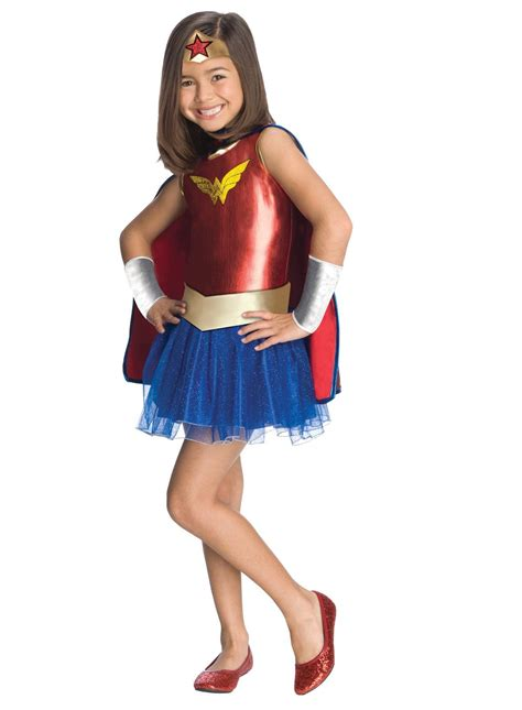 superhero halloween costumes for girls kids wonder woman girls costume 38 99 the costume land