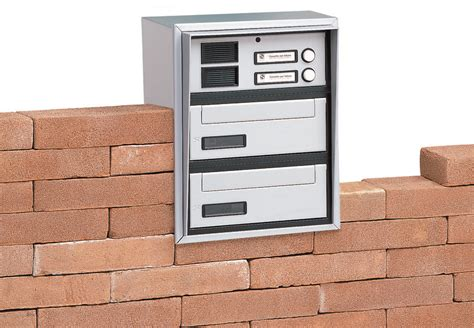 cassetta postale con citofono cassetta postale da incasso in alluminio con citofono