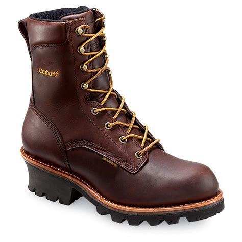 s carhartt 174 3939 9 quot logger lineman boot brown