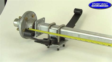 boat trailer axle assembly diagram how to measure an axle video from sturdy built trailer