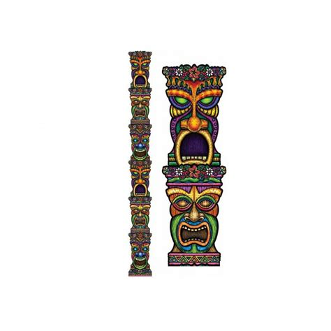 Diy Home Christmas Decorations cutout jointed tiki totem pole tropical the party