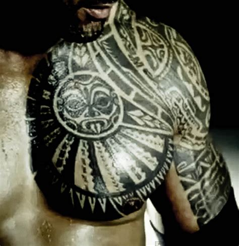The Rock S Chest Tattoo | the rock chest half quarter sleeve idea tattoos
