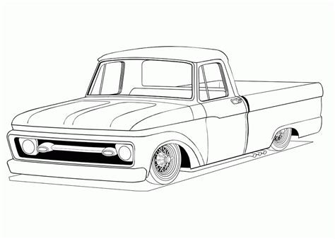 Rat Rod Coloring Pages Coloring Home Coloring Pages Trucks