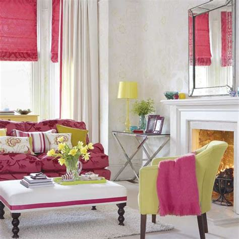 pink and green living room trendy color combo hot pink lime green