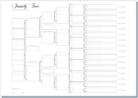 printable family tree template 5 generations 5 generation family tree chart freetruth info