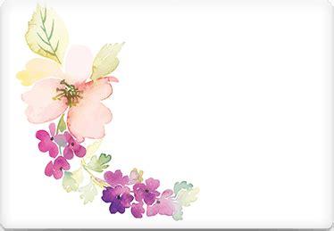 printable envelope template watercolor flowers