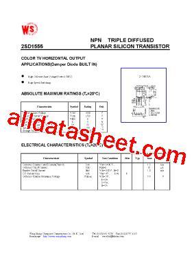 transistor d1555 datasheet 2sd1555 datasheet pdf wing shing computer components