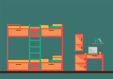 bunk bed room vector illustration