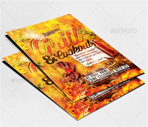 Free Cookout Flyer Template Psd