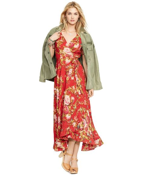 Floral Print Wrap Dress lyst denim supply ralph floral print wrap dress