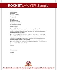 Credit Report Dispute Letter Template Credit Report Challenge Dispute Credit Report Letter