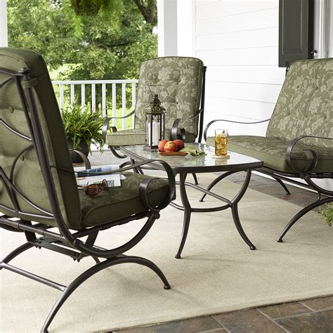 Casual Patio Furniture Sets Smith Cora 4 Seating Set Green Outdoor Living Patio Furniture Casual Seating