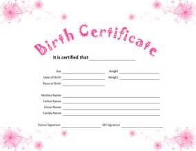 birth certificate template birth certificate template for