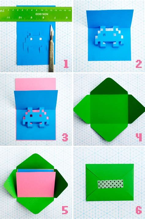 how to make pop up cards how to make 8 bit popup cards designtaxi