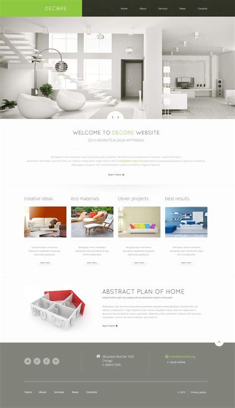 home decor website templates home decor responsive website template 46692