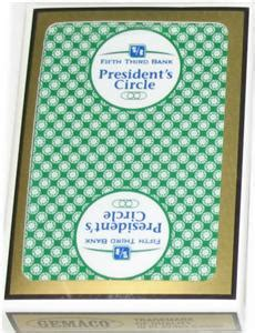 Fifth Third Bank Gift Card - fifth third bank president s circle playing cards vgc ebay