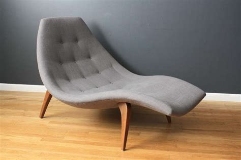 modern chaise chair mid century modern chaise lounge in the style of adrian