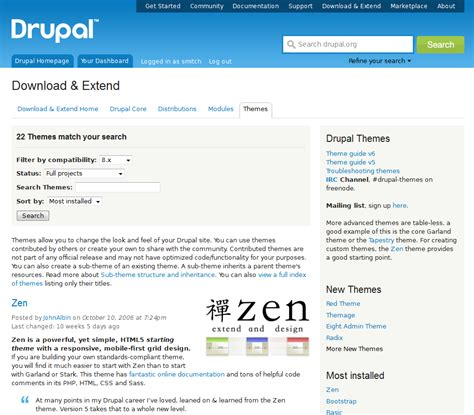 theme drupal install uploading a new theme in drupal 8 inmotion hosting