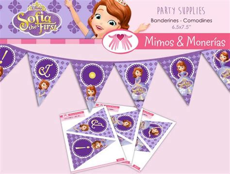 Personalized Bunting Flag Sofia The Birthday Banner sofia the banner flags printable happy birthday diy p