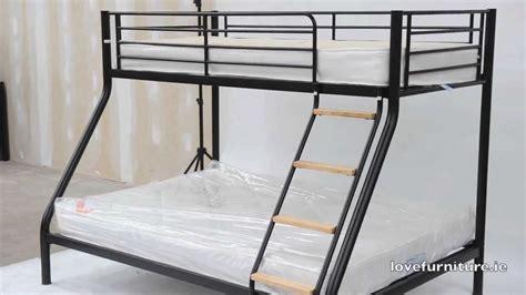 triple bunk bed metal teri triple sleeper youtube