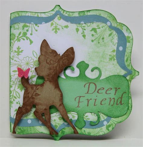 cricut birthday card template deer friend card and cricut deal aleart