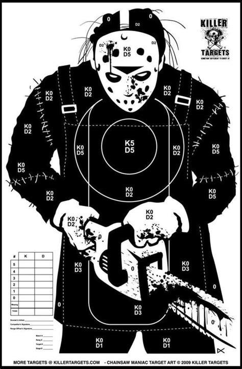 printable zombie targets for shooting pyschotic practice targets killer targets