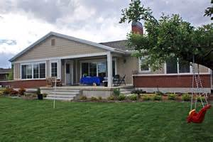 Rambler Style Home Rambler Style Home With Clapboard Siding Traditional