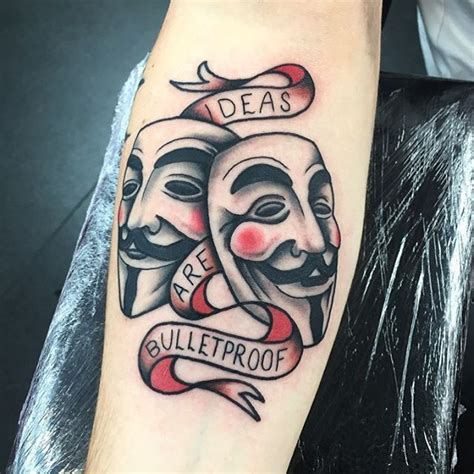 anonymous mask tattoo best 25 v for vendetta ideas on v for