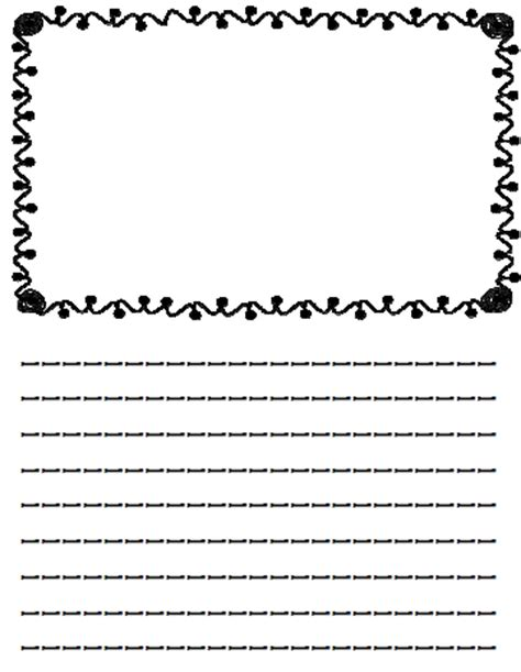 printable lined paper with drawing box mrs black s bees writing paper with picture boxes