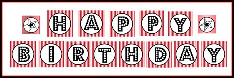 free printable happy birthday banner black and white free printable quot happy birthday quot banner red black white
