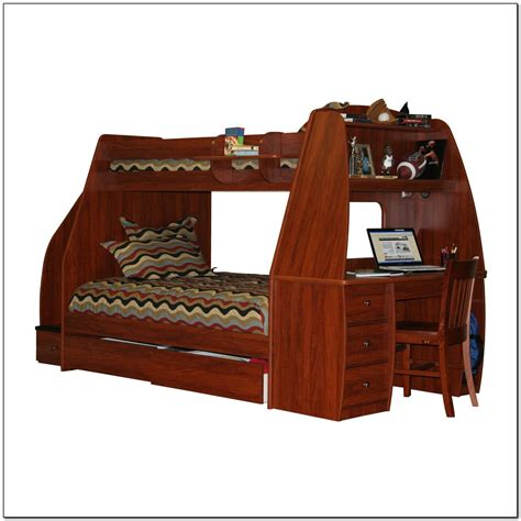 bunk bed with trundle and desk beds home bunk bed with stairs and trundle