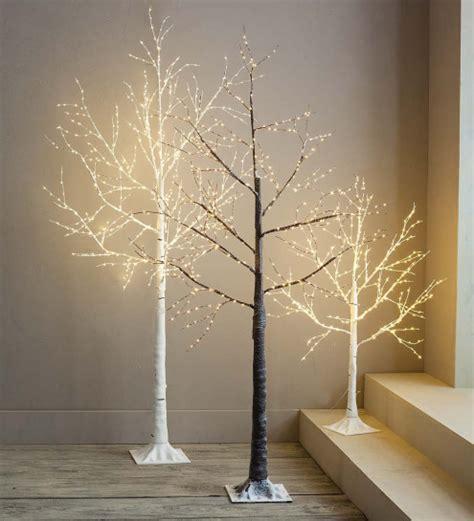 birch tree micro led brown warm white 100cm birch led light trees vivaterra